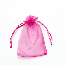 20pcs Rose red Drawstring Organza Bags Packaging Wedding Party Gift 7x9cm