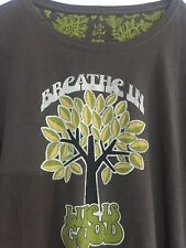 LIFE IS GOOD WOMENS BREATHE IN  T- SHIRT SIZE XL 100% Cotton Brown Long Sleeve