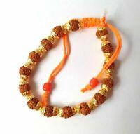 5 Mukhi Rudraksha Bracelet Rudraksh Wristband Yoga Hindu Meditation