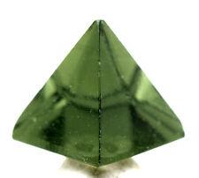 Hi-Grade A++ Moldavite PYRAMID Carving Meteorite Impact Glass Impactite Tektite