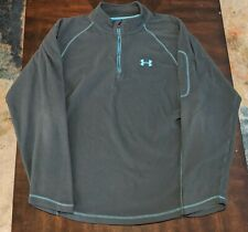 Under Armour - Mens Size Large Loose 1/4 Zip Long Sleeve Fleece - 100% Polyester