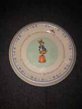"""One Peter Rabbit Christening Child's Plate 6 3/8"""" - Wedgwood  Made in England"""