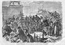 BERLIN VENTE ARBRES NOEL WEIHNACHT BAUME GRAVURE IMAGE 1869