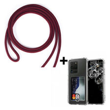 Clear Phone Case+Card Holder Lanyard Crossbody Cover for iPhone12 Pro/11,Samsung