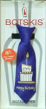 "Botskis - Musical Wine Bottle Tie ""Happy Birthday!"" Purple with Cake Cartoon-New"