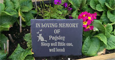 Personalised  Slate Stone  Pet Memorial Grave Marker Plaque Cat b