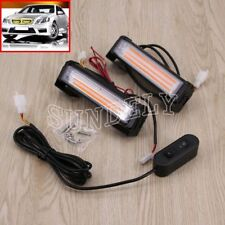 36W COB LED Car Emergency Hazard Warning Lamp Flashing Strobe Light Bar Amber
