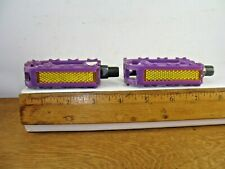 """Purple Plastic Pedals 1/2"""" Shaft from a 12"""" Pink Disney Princess Bicycle"""