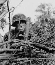 WW2 Photo WWII German Sniper Mauser 98 Waffen SS  World War Two Wehrmacht / 2502