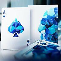 Memento Mori Azul Jugando a las Cartas Póquer Juego de Cartas Cardistry