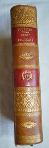 1831 Le droit civil francais suivant l'ordre du code T14 Toullier reliure cuir