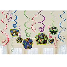 Teenage Mutant Ninja Turtles Hanging Swirl Decorations Birthday Party Supplies