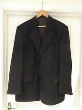 WELLINGTON EXECUTIVE Brown/Black Pinstripe Suit Jacket Wool Blend Mens Size 46R