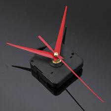 Red Mute Hands Quartz Clock Movement Mechanism Module Kit DIY Repair Tool UK....