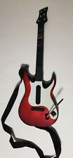 PlayStation PS2 PS3 Guitar Hero wireless controller guitar red and white w/ Game