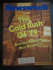 Newsweek Magazine October 1979 The Gold Rush of '79 Economic Mess Behind It