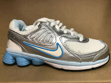NIKE SHOX QUALIFY (PS) SHOES SIZE 12c white silver blue 398426 102