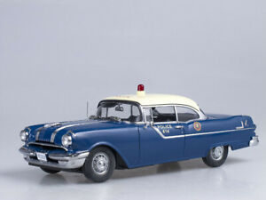 Pontiac Star Chief Hard Top Police Car Blue-White 1955 1:18 5046
