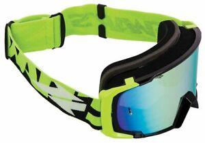 Maschera Occhiali Motocross Moto Cross Mx Enduro Verde Fluo Iridium Blu Swap's
