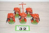 Warhammer 40k Space Marine Terminators x 5 Models Metal LOT 32