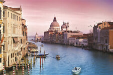 1000 Pieces Adult Kid Puzzle Small Boats in Venice City Jigsaw Educational Toys