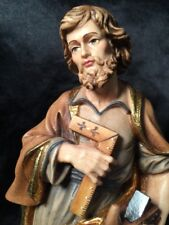 """Saint St Joseph the Craftsman Hand Carved Painted Figurine 8"""" in Box"""
