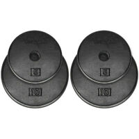 Yes4All Standard 1-inch Cast Iron Weight Plates 5 7.5 10 15 20 25 lbs