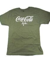 Coca-Cola  Life T-Shirt Tee Medium Green- Free Shipping