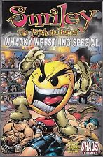 SMILEY THE PSYCHOTIC BUTTON WHACKY WRESTLING SPECIAL #1 (NM) CHAOS COMICS