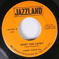 Jazz 45 Junior Mance Trio - Sweet And Lovely / The Uptown On Jazzland