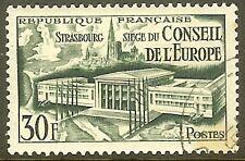 """FRANCE TIMBRE STAMP N°923 """"SIEGE DU CONSEIL DE L'EUROPE"""" OBLITERE TB"""