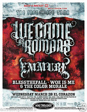 We Came As Romans / Emmure 2012 Seattle Concert Tour Poster -Metalcore