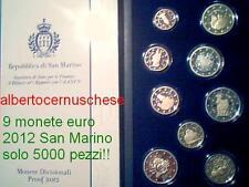 2012 Coffret BE 9 pièces 5,88 EURO Saint Marin San Marino PP Fs proof 2 euro EMU