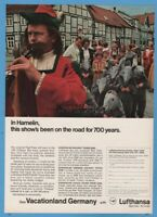 1969 Pied Piper of Hamelin Germany Lufthansa German Airlines vintage photo ad
