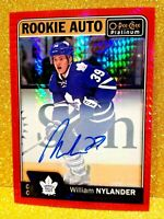 2016-17 O-PEE-CHEE Platinum Red Prism Rookie Auto /50 WILLIAM NYLANDER Autograph
