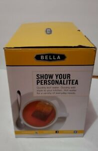 NEW - Bella Electric ceramic Kettle 1.2L Black and white floral pattern