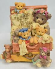 "The San Francisco Music Box Teddy Hugs Music Box ""That's what friends are for"""