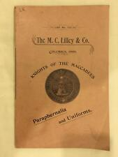 Knights of the Maccabees Uniforms & Paraphernalia Trade Catalog 1893 Ohio