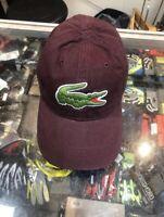 LACOSTE Big Logo Vertigo Classic Adjustable Hat Cap RK8217 51 Y29 Msrp $40 AF