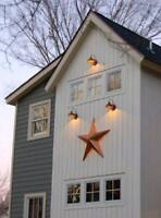 """3 FT Tall Rustic Outdoor Dimensional BARN STAR Country Farmhouse Home Decor 36"""""""