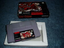 SECRET OF EVERMORE - SNES Super Nintendo Box & Game