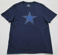 Dallas Cowboys Football NFL Men's Short Sleeve T Shirt Medium M Blue Crewneck