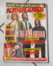 NIRVANA Kurt Cobain on cover of Kerrang 1995 Pantera grunge Motorhead