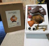 "PUMPKIN WEAR ""SCARECROW"" Pumpkin  Halloween Decoration NEW IN BOX"