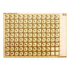 108 Wooden Scrabble Tiles with Fingerspelling Pictograms - MDF or Ply