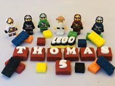 Edible Fondant Lego Ninjago & Bricks  Cake Topper Birthday Decorations