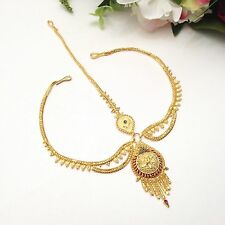 Indian Asian Bridal Jewellery Party Wear 22ct Gold Plated Matha Patti Bindi Tika