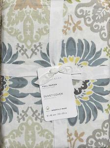 Pottery Barn Joni F/Q Full/Queen Floral Print Duvet - NEW w/ Tags