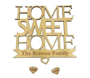 Origin Personalised Home Sweet Home Hanging Wall Plaque Handmade Gorgeous Gift