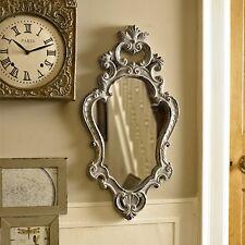 Grey wood ornate wall mirror shabby french chic bedroom vintage vanity hallway